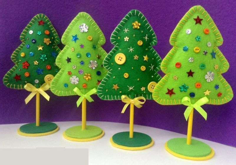 DIY juletræ til nytår & # 8212; fotoideer og mesterklasser trin 26