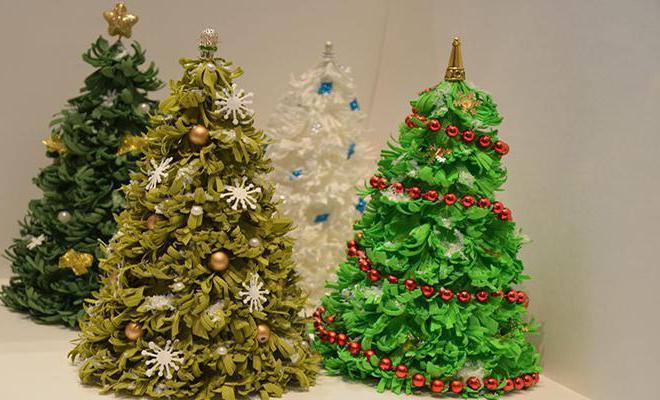 DIY juletræ til nytår & # 8212; fotoideer og mesterklasser fase 27