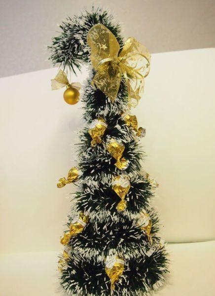 DIY juletræ til nytår & # 8212; fotoideer og mesterklasse trin 72