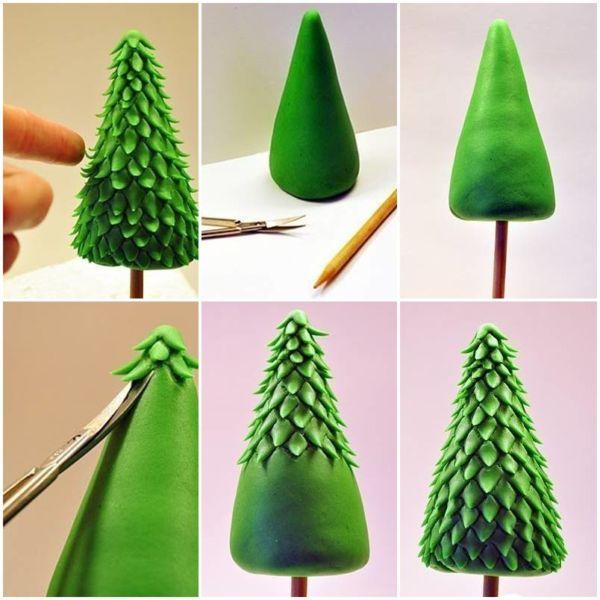 DIY juletræ til nytår & # 8212; fotoideer og mesterklasser trin 141
