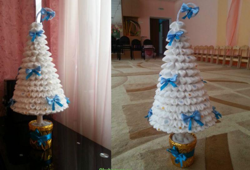 DIY juletræ til nytår & # 8212; fotoideer og mesterklasser trin 125