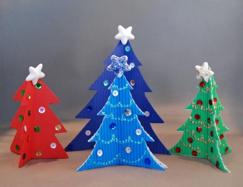 DIY juletræ til nytår & # 8212; fotoideer og mesterklasser fase 138
