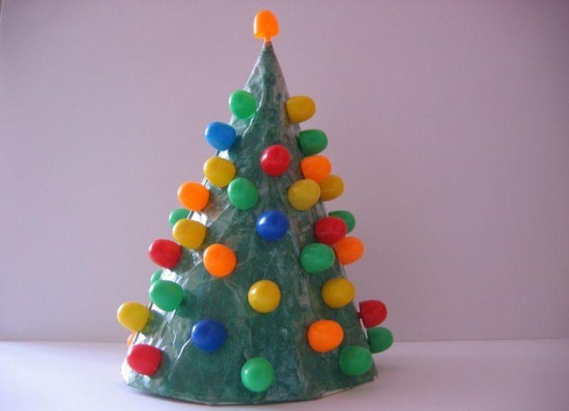 DIY juletræ til nytår & # 8212; fotoideer og mesterklasser trin 143