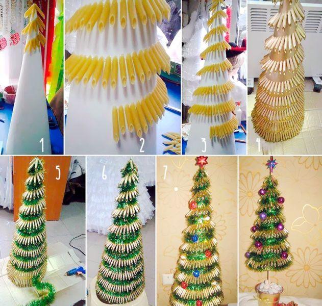 DIY juletræ til nytår & # 8212; fotoideer og mesterklasser trin 4