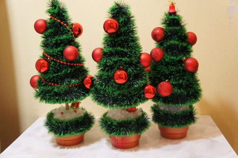 Жаңа жылдық шыршасы бар жаңа ағаш & # 8212; Фото идеялар және мастер-класстар 7 кезең