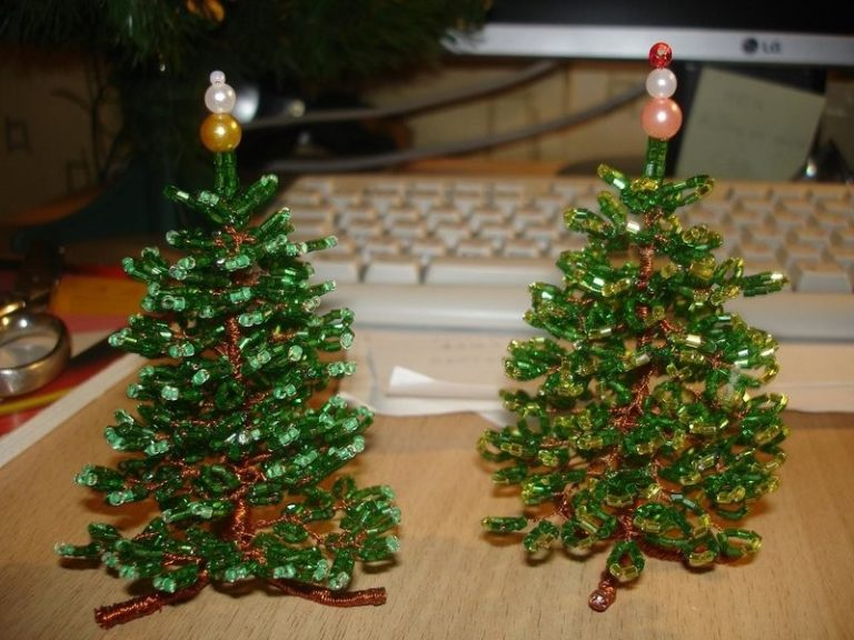 DIY juletræ til nytår & # 8212; fotoideer og mesterklasser trin 9