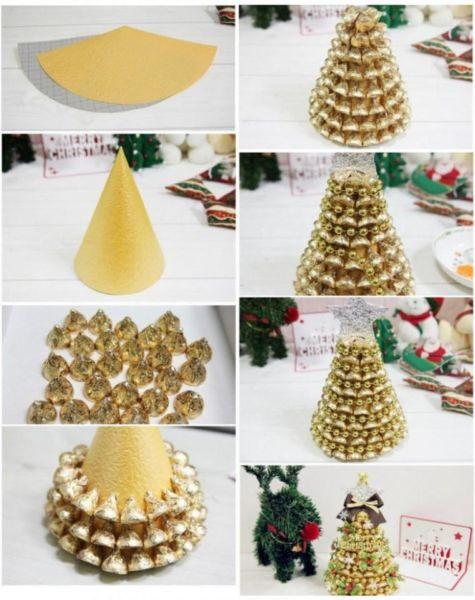 DIY juletræ til nytår & # 8212; fotoideer og mesterklasser trin 13