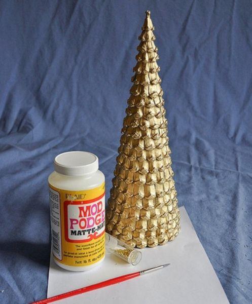 ต้นคริสต์มาส DIY สำหรับปีใหม่ & # 8212; ไอเดียภาพถ่ายและมาสเตอร์คลาสขั้นที่ 46