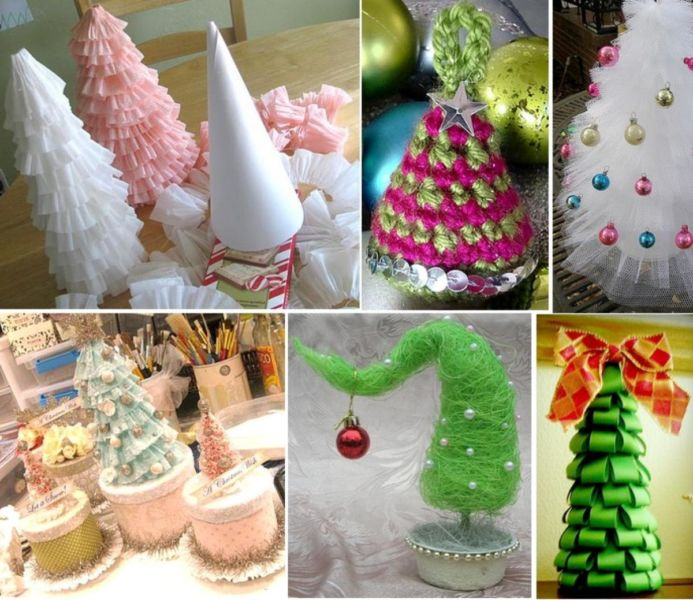 DIY Christmas tree for New Year & # 8212; photo ideas and master classes stage 1