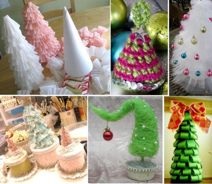 DIY juletræ til nytår & # 8212; fotoideer og mesterklasser trin 1