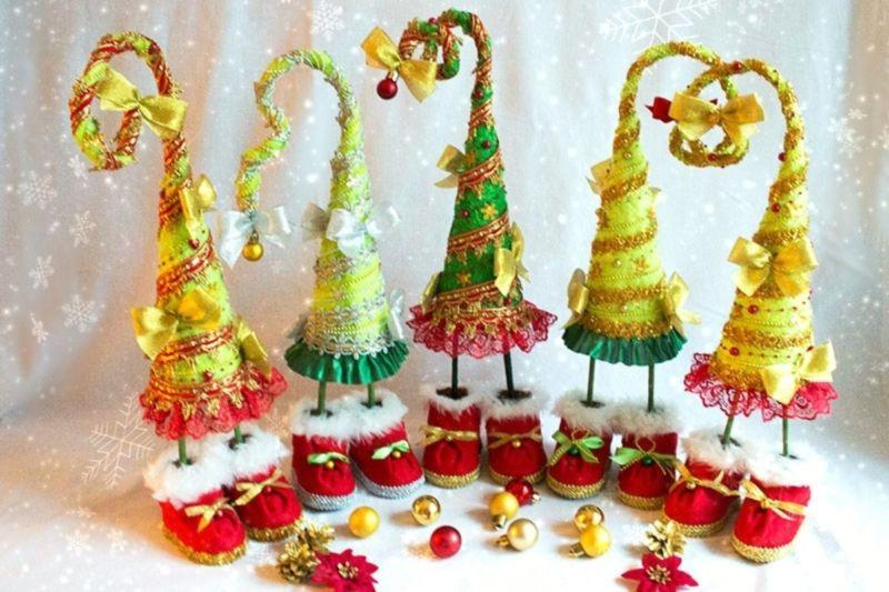 DIY juletræ til nytår & # 8212; fotoideer og mesterklasser trin 25