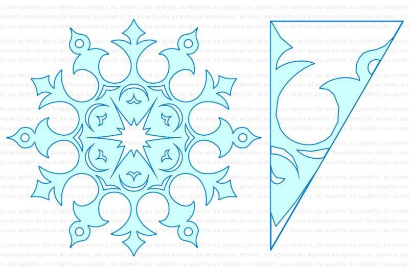 雪花与他们自己的手为新的一年2021.雪花阶段88制造的纸张和逐步说明