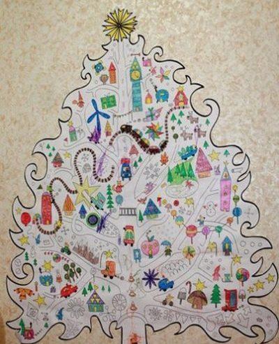 Tělor strom z papíru & # 8212; Schémata a šablony k vytvoření vánočního stromu s vlastními rukama etapou 91