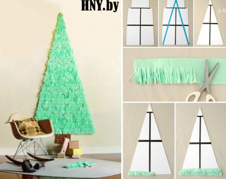 Tělor strom z papíru & # 8212; Schémata a šablony k vytvoření vánočního stromu s vlastní fází rukou 90