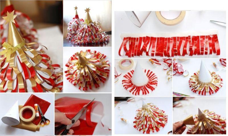 Tělor strom z papíru & # 8212; Schémata a šablony vytvořit vánoční stromeček s vlastními rukama