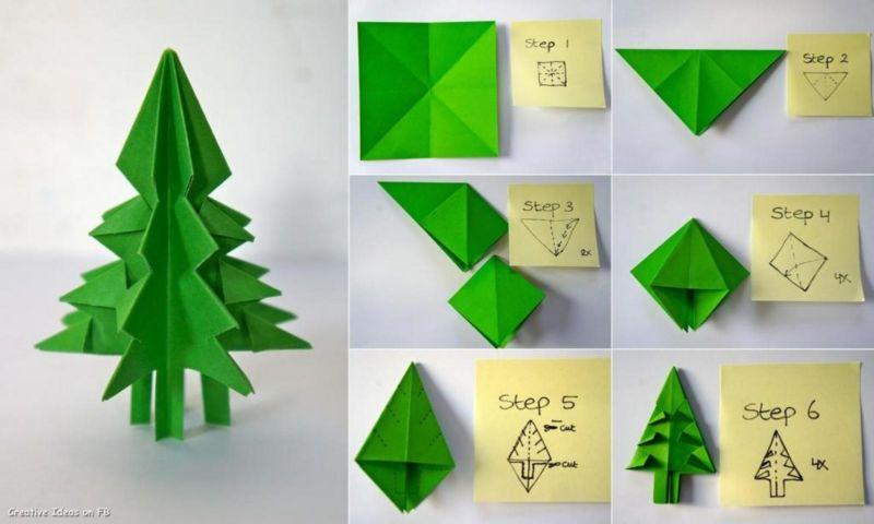 Tělor strom z papíru & # 8212; Schémata a šablony k vytvoření vánočního stromu s vlastními fází rukou 48