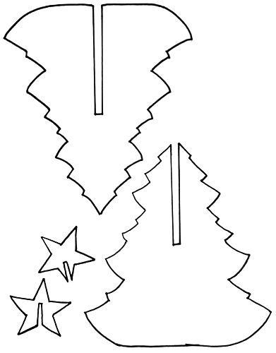 Tělor strom z papíru & # 8212; Schémata a šablony k vytvoření vánočního stromu s vlastními fází rukou 5
