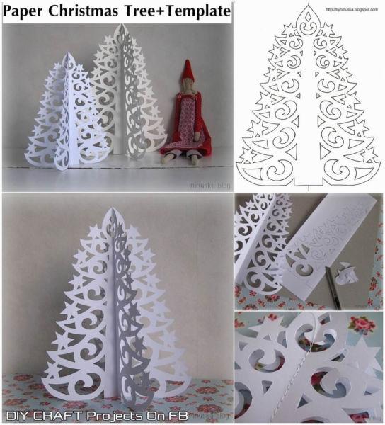 Tělor strom z papíru & # 8212; Schémata a šablony k vytvoření vánočního stromu s vlastní fází rukou 8