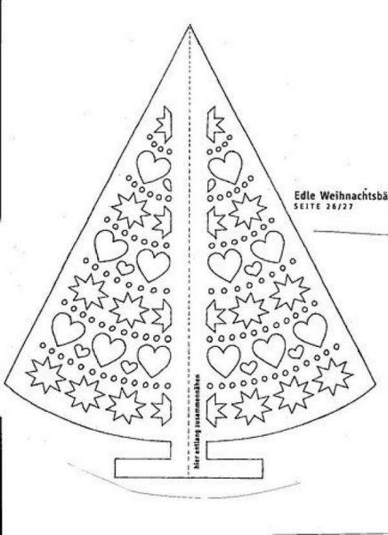 Tělor strom z papíru & # 8212; Schémata a šablony vytvořit vánoční strom s vlastními rukama fází 64