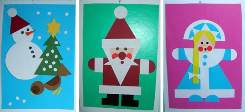 کارت پستال های سال نو آن را برای کودکان انجام می دهند: کلاس های کارشناسی ارشد و قالب های کارت پستال برای سال جدید 2021 مرحله 43