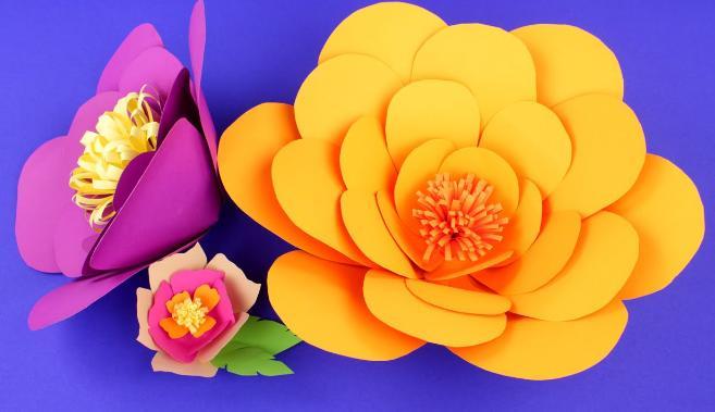Paper Flowers & # 8212; Mga scheme at mga template para sa paglikha ng mga kulay ng papel na yugto 31.
