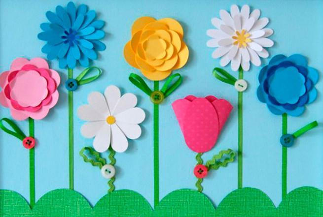 Paper Flowers & # 8212; Mga scheme at mga template para sa paglikha ng mga kulay ng papel na yugto 73.