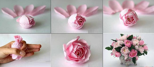 Paper Flowers & # 8212; Mga scheme at mga template para sa paglikha ng mga kulay ng papel 166.