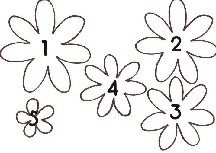 Paper Flowers & # 8212; Mga scheme at mga template para sa paglikha ng mga kulay ng papel na yugto 141.