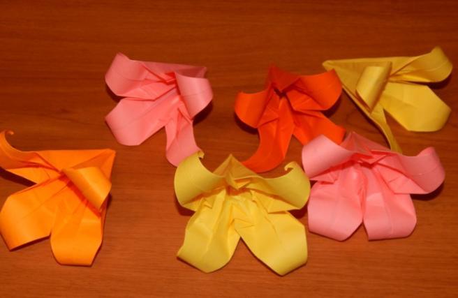 Paper Flowers & # 8212; Mga scheme at mga template para sa paglikha ng mga kulay ng papel na yugto 113.
