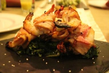 Bacon wala prawns