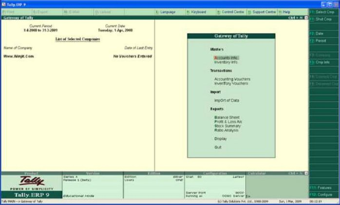 Tally ERP 9.0 Free Download