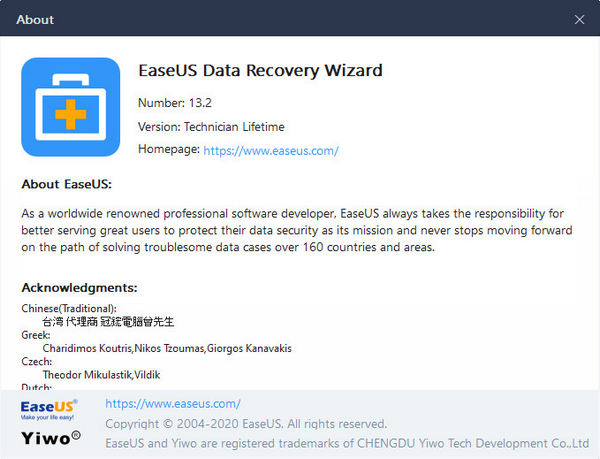EaseUS Data Recovery Wizard Technician 13 Full Version