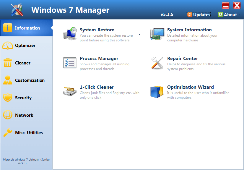 Windows 7 Manager Free