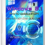 Windows 8.1 Pro Vl Update 3 x64 En-Us V.2 OEM ESD Aug 2015