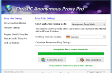 ChrisPC Anonymous Proxy Pro 8.05 Free Download