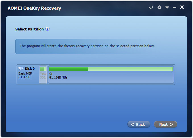 AOMEI OneKey Recovery Full Version