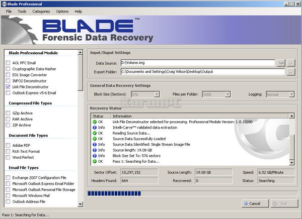 Blade Forensic Data Recovery