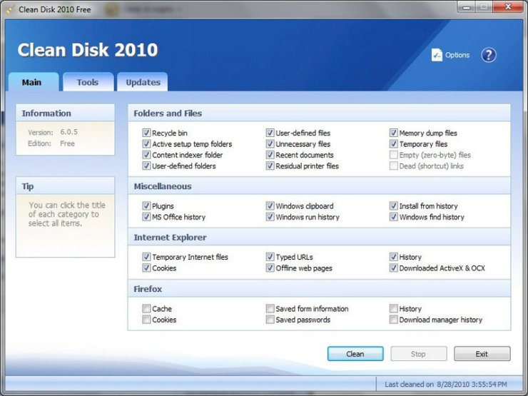 Clean Disk 2010 Free