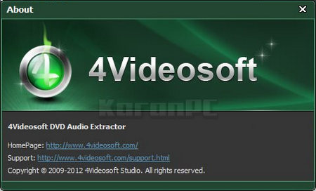 4Videosoft DVD Audio Extractor 5