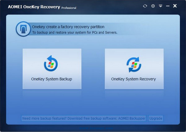 AOMEI OneKey Recovery Professional 1.6.1 [Latest]