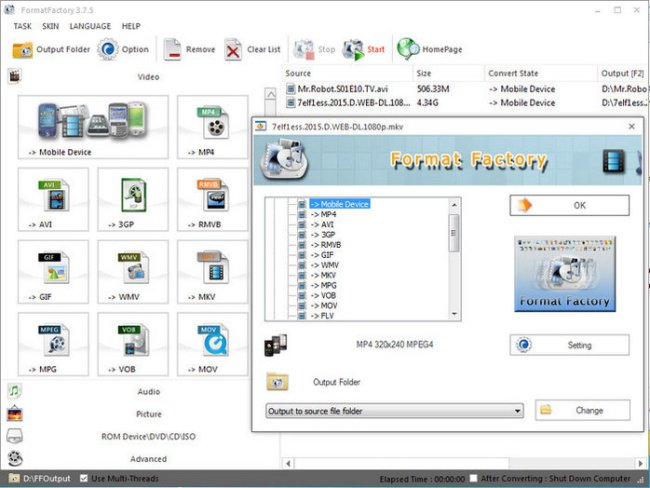 Format Factory 4.7 Portable Version