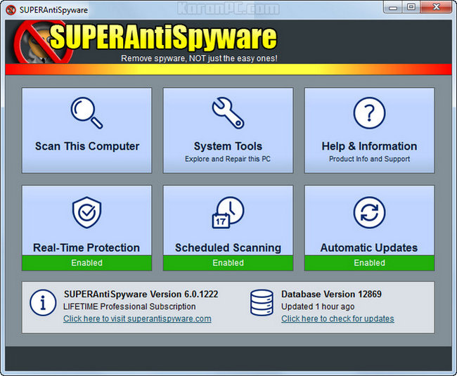 SUPERAntiSpyware Life time Serial Key