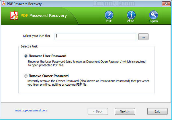 Pdf User Password Remover