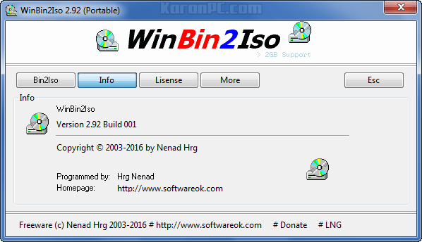 WinBin2Iso Free Download