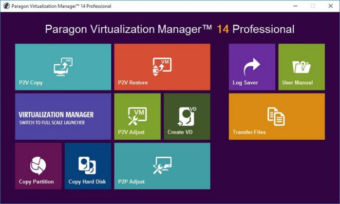 Paragon Virtualization Manager 14 Professional