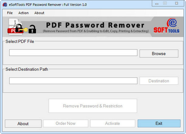 eSoftTools PDF Password Remover