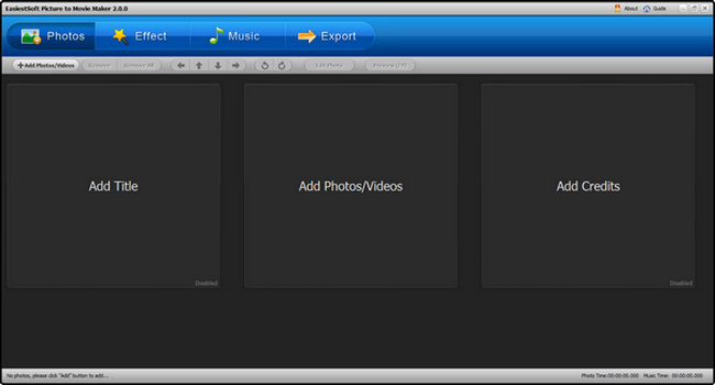 EasiestSoft Picture to Movie Maker 2