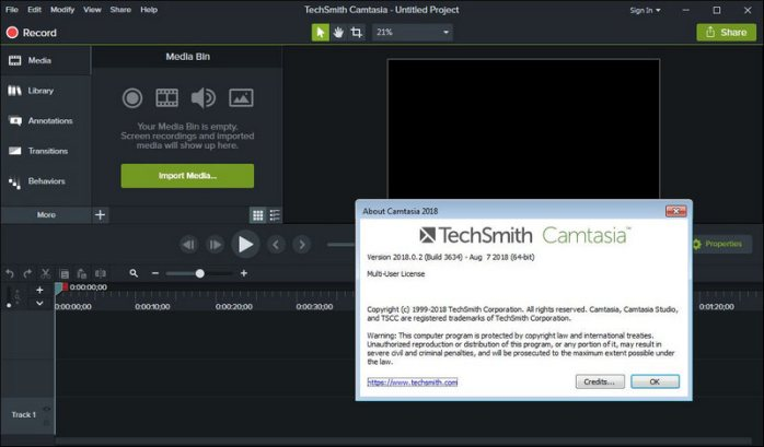 TechSmith Camtasia 2018 Licence