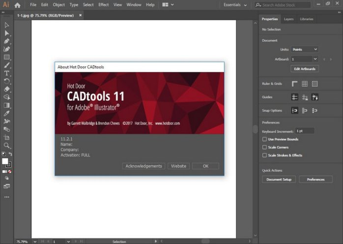 Hot Door CADtools Download for Adobe Illustrator