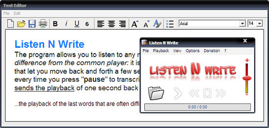 Listen N Write Portable Version